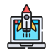 Rocket from screen icon