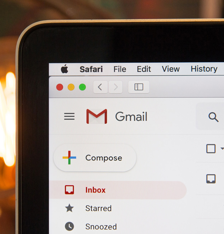 Email Marketing Screen showing Gmail logo
